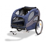 Solvit Track'r HoundAbout II Pet Bicycle Trailer: Aluminum, Blue, Large