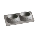Pura Naturals Pet Feeding Set, Large - Slate