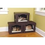 Solvit Decorative Cat Hut: Brown