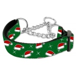 Santa Hats Nylon Ribbon Collar Martingale Large