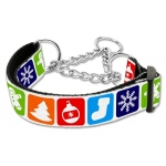 Classic Christmas Nylon Ribbon Collar Martingale Large