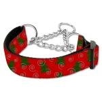 Christmas Tree Nylon Ribbon Collar Martingale Large