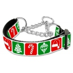 Timeless Christmas Nylon Ribbon Collar Martingale Large
