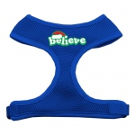 Believe Screen Print Soft Mesh Harnesses  Blue Large