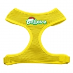 Believe Screen Print Soft Mesh Harnesses  Yellow Large