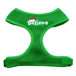 Believe Screen Print Soft Mesh Harnesses  Emerald Green Medium