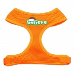 Believe Screen Print Soft Mesh Harnesses  Orange Small
