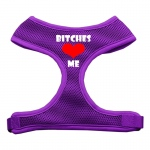 Bitches Love Me Soft Mesh Harnesses Purple Large