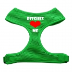 Bitches Love Me Soft Mesh Harnesses Emerald Green Medium