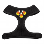 Candy Corn Design Soft Mesh Harnesses Black Small