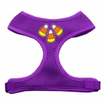 Candy Corn Design Soft Mesh Harnesses Purple Small