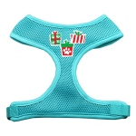 Presents Screen Print Soft Mesh Harness  Aqua Small