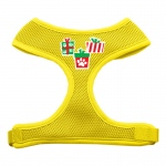 Presents Screen Print Soft Mesh Harness  Yellow Small