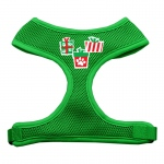 Presents Screen Print Soft Mesh Harness  Emerald Green Extra Large