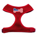 Bone Flag USA Screen Print Soft Mesh Harness Red Medium