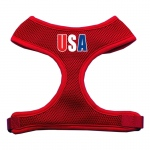 USA Star Screen Print Soft Mesh Harness Red Large