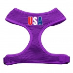 USA Star Screen Print Soft Mesh Harness Purple Small