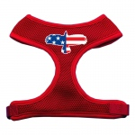 Eagle Flag  Screen Print Soft Mesh Harness Red Small