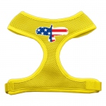 Eagle Flag  Screen Print Soft Mesh Harness Yellow Extra Large