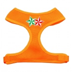 Double Holiday Star Screen Print Mesh Harness Orange Large