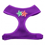 Double Holiday Star Screen Print Mesh Harness Purple Large