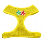 Double Holiday Star Screen Print Mesh Harness Yellow Large