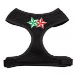 Double Holiday Star Screen Print Mesh Harness Black Medium