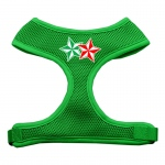 Double Holiday Star Screen Print Mesh Harness Emerald Green Medium