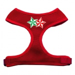 Double Holiday Star Screen Print Mesh Harness Red Medium
