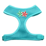 Double Holiday Star Screen Print Mesh Harness Aqua Small