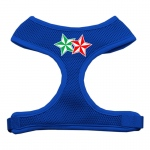 Double Holiday Star Screen Print Mesh Harness Blue Small