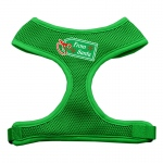 From Santa Tag Screen Print Mesh Harness Emerald Green Small