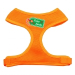 From Santa Tag Screen Print Mesh Harness Orange Extra Large