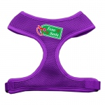 From Santa Tag Screen Print Mesh Harness Purple Extra Large