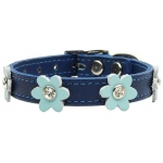 Flower Leather Blue w/ Baby Blue Flowers 10