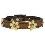 Flower Leather Bronze w/ Gold Flowers 12