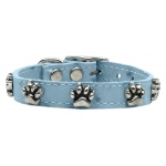 Faux Ostrich Paw Leather Baby Blue 10