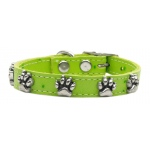 Faux Ostrich Paw Leather Lime Green 12