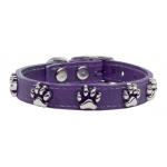 Faux Ostrich Paw Leather Purple 16