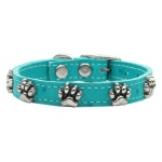 Faux Ostrich Paw Leather Turquoise 20
