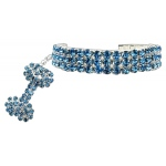 Glamour Bits Pet Jewelry Blue L (10-12)