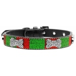 Christmas Crystal Bone Collar Medium