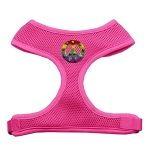 Rainbow Peace Sign Chipper Pink Harness Medium