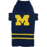 Michigan Wolverines Pet Sweater LG