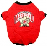 Maryland Terrapins Pet Shirt LG