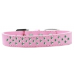 Sprinkles Dog Collar Clear Crystals Size 16 Light Pink
