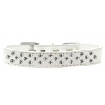 Sprinkles Dog Collar Clear Crystals Size 16 White