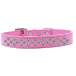 Sprinkles Dog Collar AB Crystals Size 18 Bright Pink