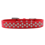 Sprinkles Dog Collar AB Crystals Size 18 Red