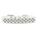 Sprinkles Dog Collar AB Crystals Size 12 White